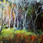 Šuma 1, ulje - staklo, 20x20, 2003.