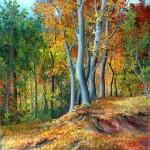 Šuma u listopadu, ulje - staklo, 40x35 2007.