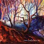 šuma 4, ulje - staklo 20x20, 2003.