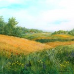 Žitna polja, ulje - staklo, 30x35. 2005.
