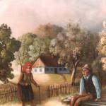 10. Dedek i babica, ulje-platno 40x55, 1982.