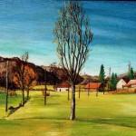 10. Seljački dom u Proseniku, ulje-lesonit, 40x80, 1976.