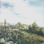 11. Trstika i lopuhi, ulje-staklo,30x25 1993.