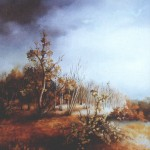 12. Jesen, ulje-staklo, 25x30, 1993.
