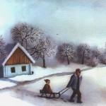 12.Zima, ulje-staklo 25x30, 1983.