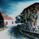 14. Tuhelj, - pogled iz pošte, ulje-lesonit, 35x55 1978.