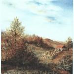 14. Usamljena  klijet, ulje-staklo, 30x25, 1993.