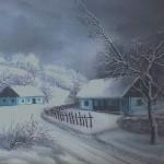 14. Zima, ulje - staklo, 30x40, 1983.