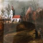 15. Kapelica, ulje-staklo, 20x30, 1979.