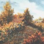 17. Vinograd ujesen, ulje-staklo, 1993.