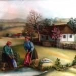 19. Na perišu, ulje-staklo, 30x40 1979.