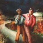 20. Nočni pajdaši, ulje-staklo, 40x30 1983.