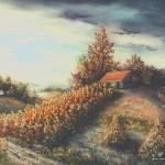 21. Jesenski pejzaž, ulj-staklo, 30x40, 1993.