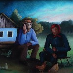 23. Dedek i babica ulje-staklo, 25x30, 1979.