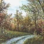 27. Šuma kod Oskara, ulje-staklo, 25x30, 1994.