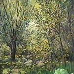 28. Vrbe u proljeće, ulje-staklo, 20x25, 1994.