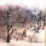 29. Zima, ulje-staklo, 25x25, 1980.