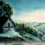 3. Klijet, ulje-lesonit, 30x50,1974.