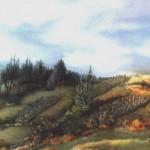 31. Jesen u Lenišću, ulje-staklo, 30x40, 1986.