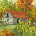 32. Klijet, ulje-staklo, 25x30, 1994.