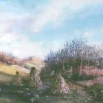 32. Kuruznica u proljeće, ulje-staklo, 30x40, 1986