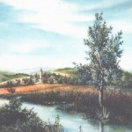 35. Pejzaž, ulje-staklo, 70x50 1994.