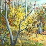 36. Šuma u jesen, ulje-staklo, 30x40, 1995.