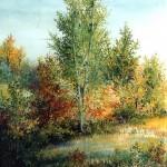 4. Na Japici, ulje-staklo, 30x25, 1992.