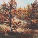 42. Listopad, ulje-staklo, 30x40, 1986.