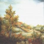 43. Jesen, ulje-staklo, 30x25. 1996.