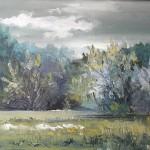 44. Livada kraj šume, ulje-platno,40x60 1996.