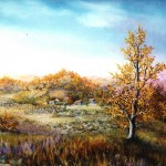 45. Jesen, ulje-staklo, 30x40, 1996.
