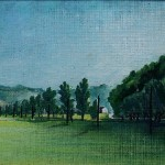 5. Livade pred kućom, ulje-lesonit, 30x55 1975.