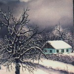 51. Zima, ulje-staklo, 25x20 1985.