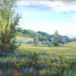 52. Livade u proljeće, ulje-staklo, 30x40, 1996.