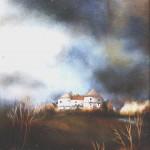 52. Veliki tabor, ulje- staklo, 30x25,1988.