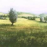 56. Livade, ulje - staklo, 30x40 1989.
