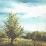 59.Vrba u proljeće, ulje-staklo 25x30, 1997.