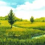 6. Ljeto, ulje-staklo, 30x40, 1992.