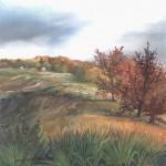 63. Jesen, ulje-staklo, 20x20, 1998.