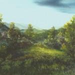 63. Proplanak u proljeće, ulje-staklo, 30x40 1989.