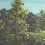64. Šuma u proljeće, ulje-staklo, 30x40, 1989.