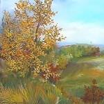 66. Jesen, ulje-staklo, 20x20 1998.