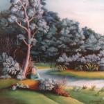 68. Sanjarenje, ulje-staklo, 30x30 1990.