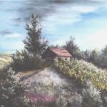 70. Vinograd u ljetno jutro, ulje-staklo, 30x40, 1990.