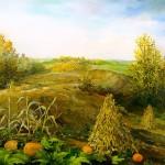 78. Kasna jesen, ulje-staklo, 30x40, 1999.