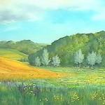 81. Ljeto v jaurku, ulje-staklo, 60x80, 1999.