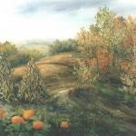 82. Jesen, ulje-staklo, 30x40, 1999.
