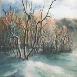 83. Zima, ulje-staklo, 30x40, 1999.