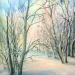 84. Šuma u siječnju, ulje-staklo,30x25, 1999.